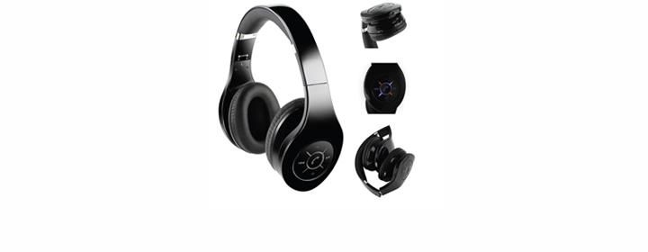 gifts for him sleek black wireless bluetooth headphones under 40 on gifts. Black Bedroom Furniture Sets. Home Design Ideas