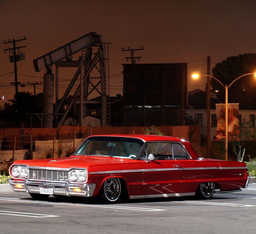 Tan 1964 Chevy Impala Lowrider Drop Top Hd Wallpaper Lowriders