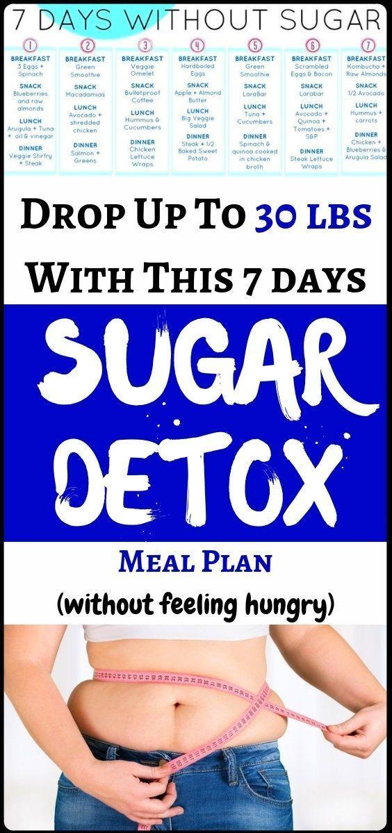Gewicht verlieren bis zu 30 kg mit diesem 7-tägigen Zucker Detox Menüplan  -