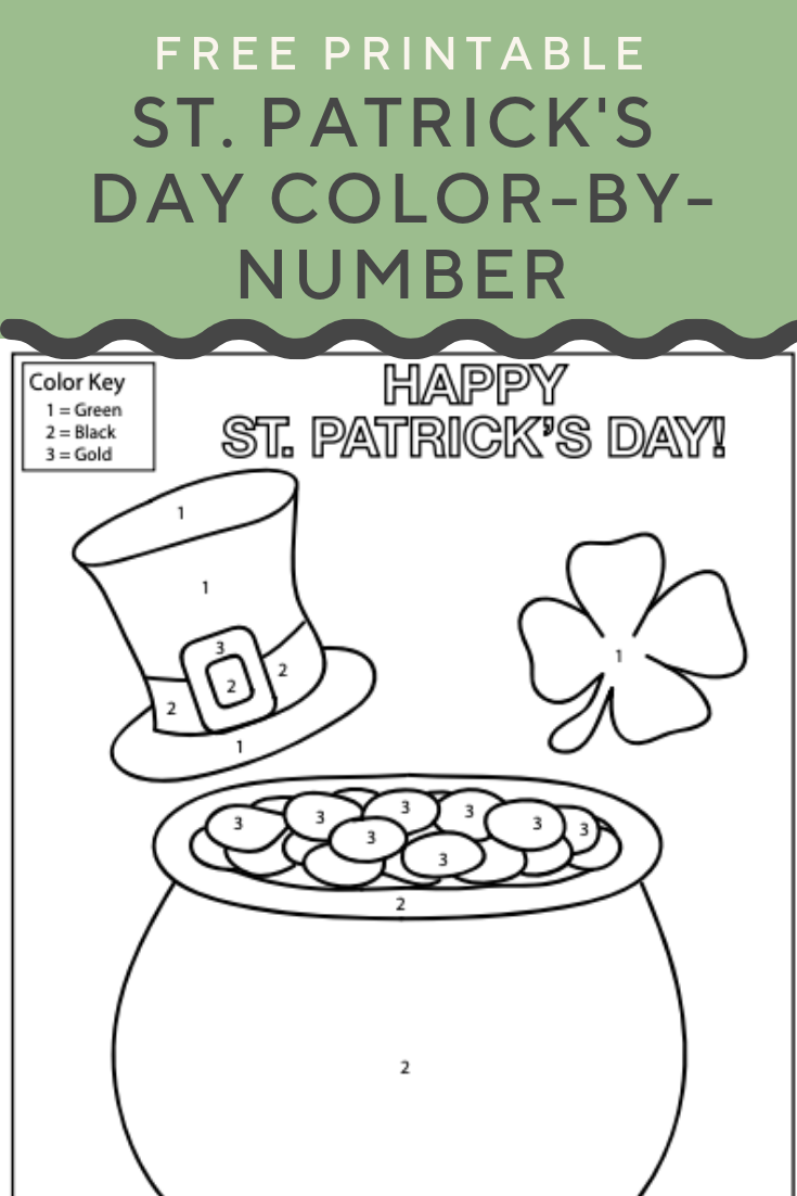 St Patrick S Day Color By Number Get Into The St Patrick S Day Spirit With A Free Color By Number Colori Easy Coloring Pages Color Worksheets Education Com [ 1102 x 735 Pixel ]
