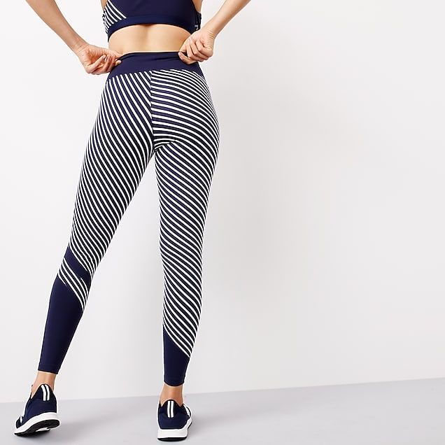 4bfa9afc7b132 women's new balance ® for j.crew high waisted performance leggings in  diagonal stripe - women's active knits