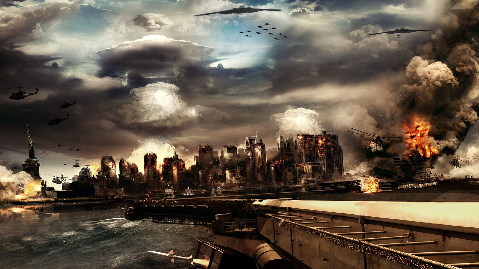 Destruction Game Scene Wallpapers Hd Wallpapers Background Images Fantasy City Cool Pictures
