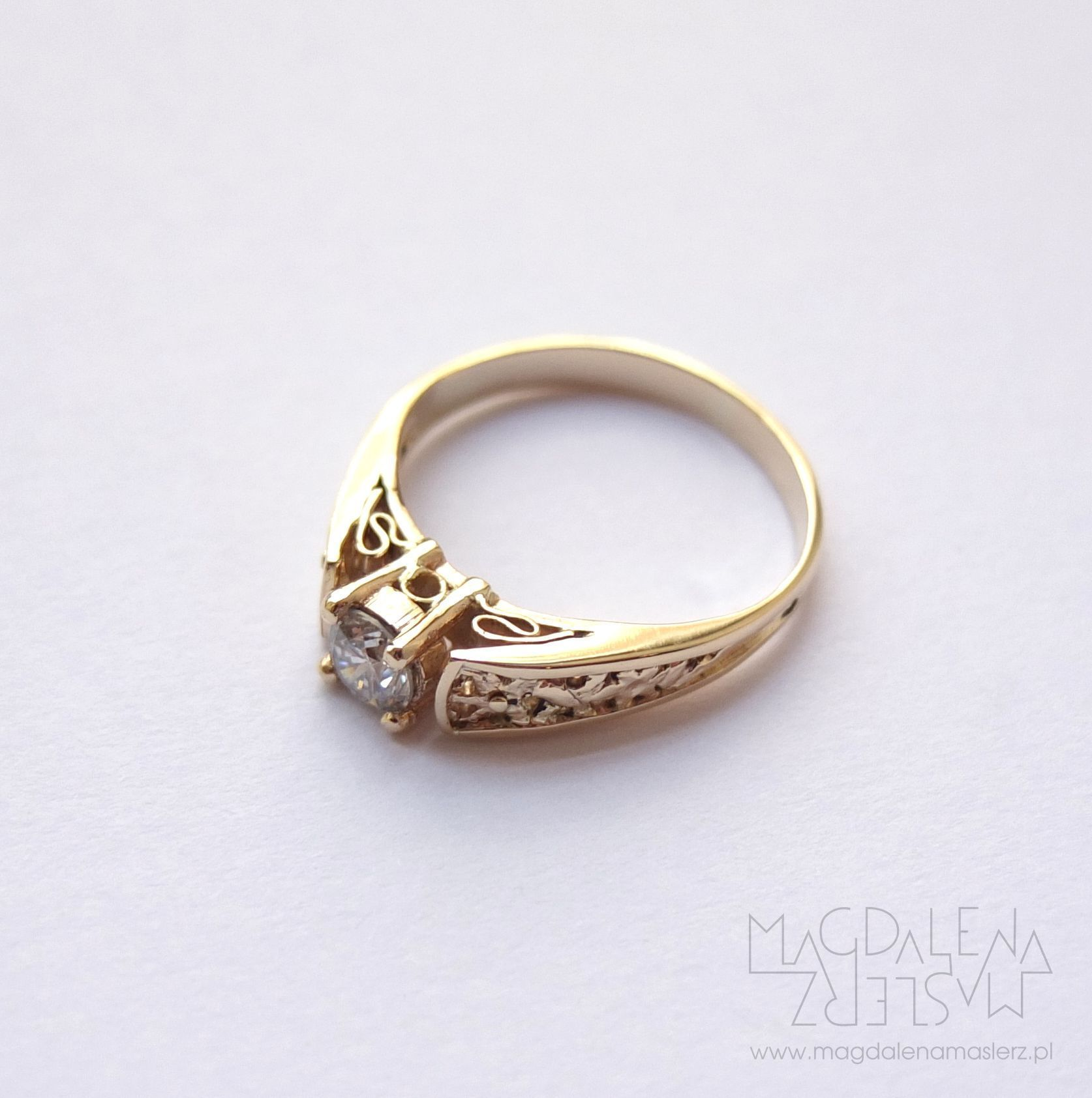 Magdalena Maślerz Decorative Yet Delicate Ring Made To Special Order Yellow Gold And Diamond Few Months Later I Was Hy Help Bride Groom In