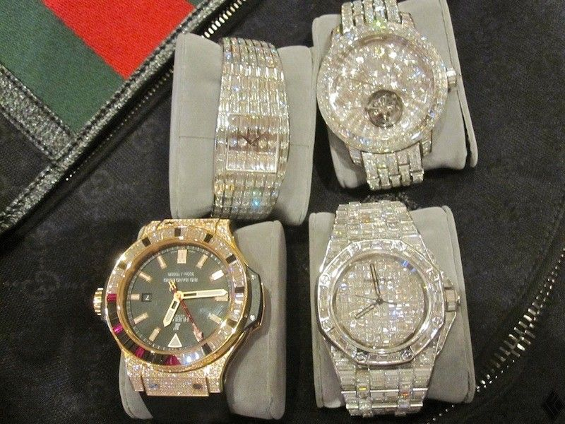floyd his of collection mayweather off revealing watches stunning shows watch