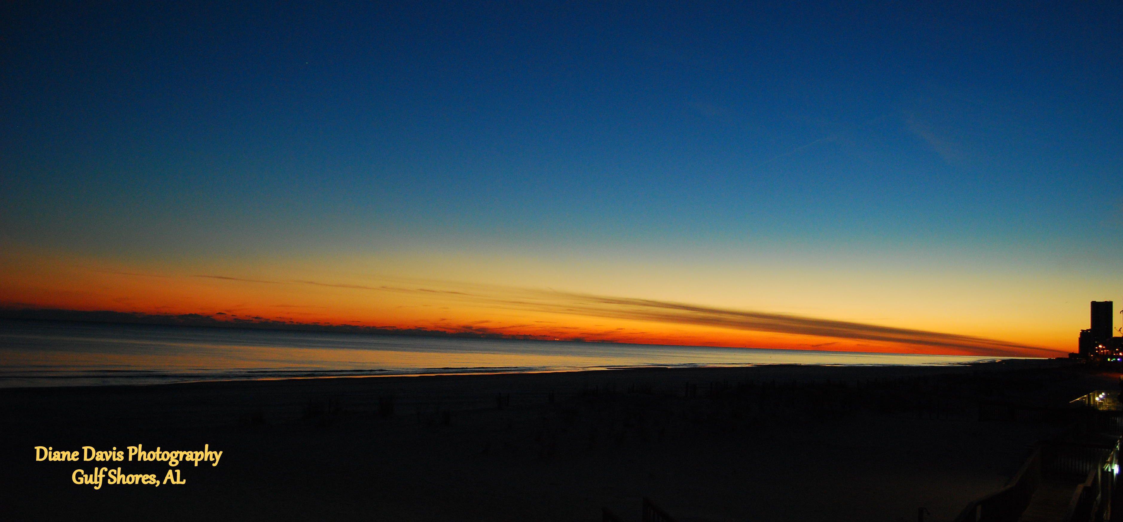 Sunset on the Alabama Gulf Coast