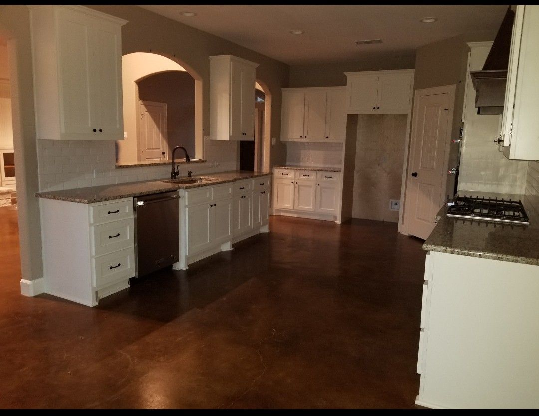 Stained concrete floors   Concrete stained floors, Stained ...