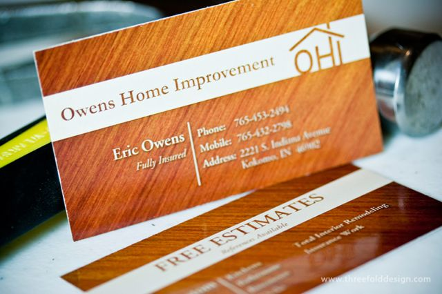 16pt business card with spot uv for owens home improvement by 16pt business card with spot uv for owens home improvement by threefold design threefold design reheart Image collections
