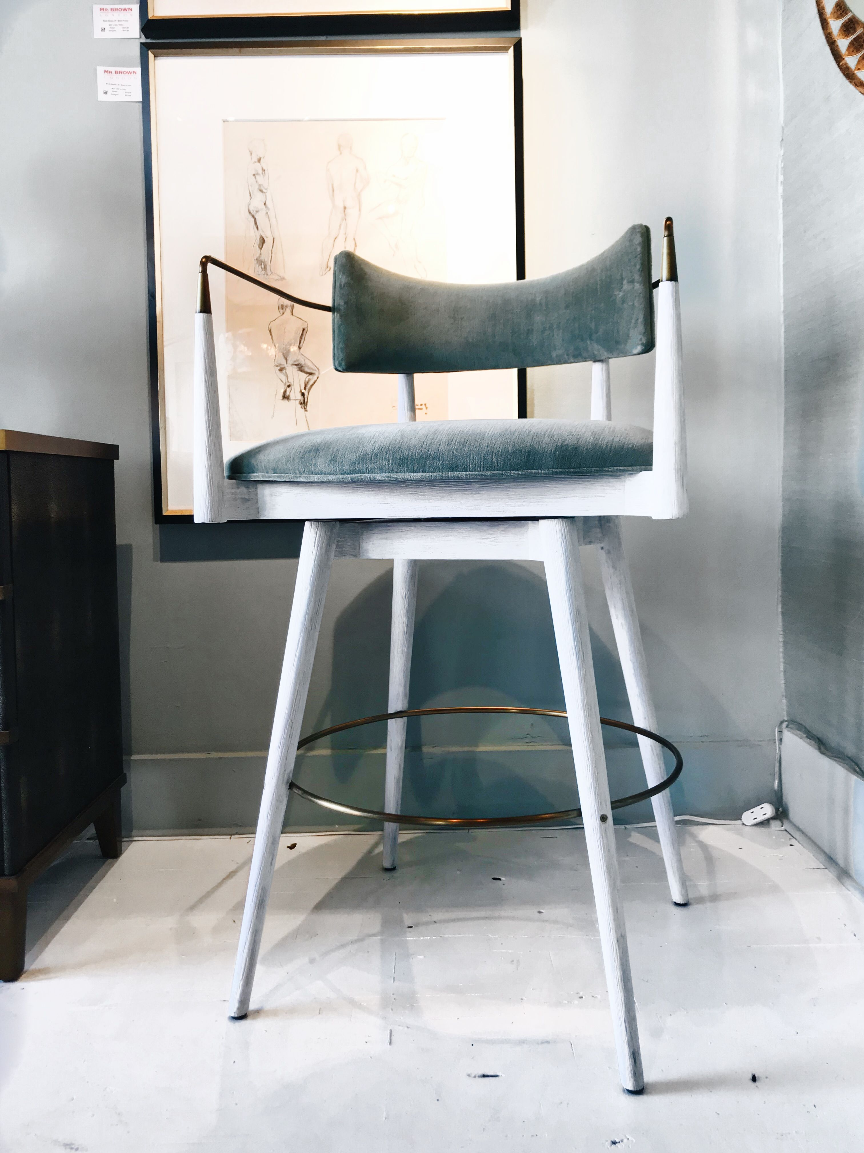 The Durrant Bar Stool From Mr Brown London Was Inspired By A French Mid Century