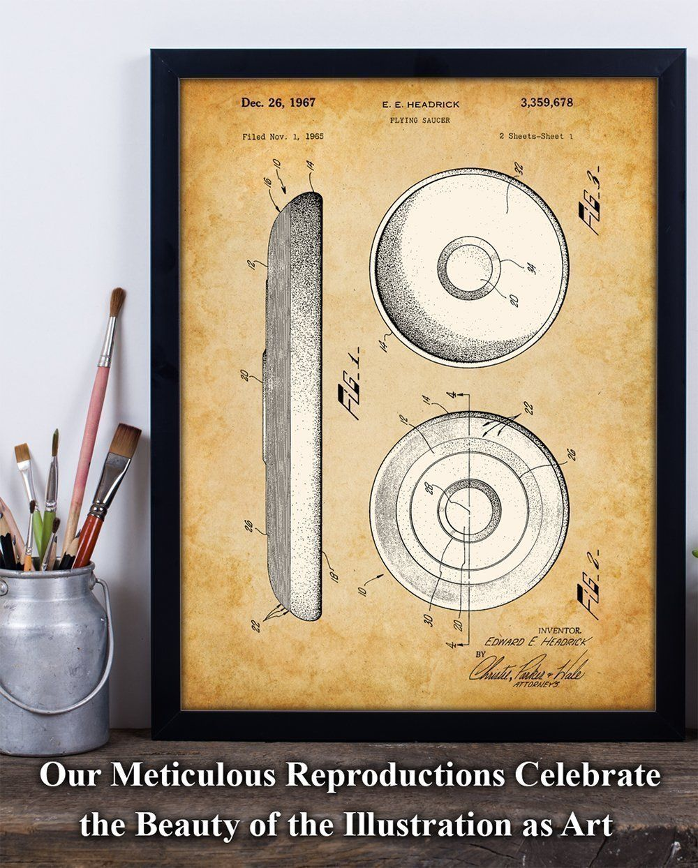 Frisbee Art Print - 11x14 Unframed Patent Print - Great Gift for ...