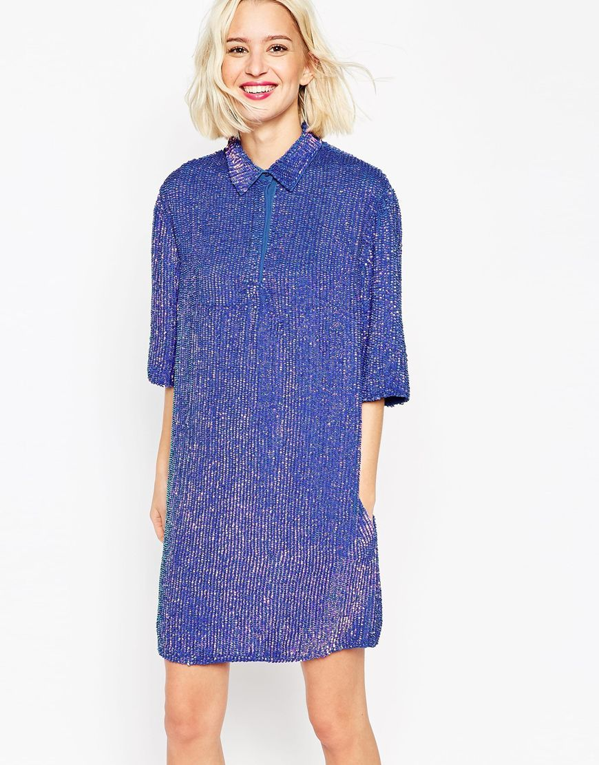 3dceb6c20a32 Image 1 of ASOS Embellished Polo Dress | Wish List | Asos party ...