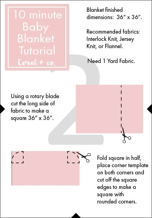 Easy DIY Baby Swaddle Blanket Pattern and Tutorial - Coral + Co.