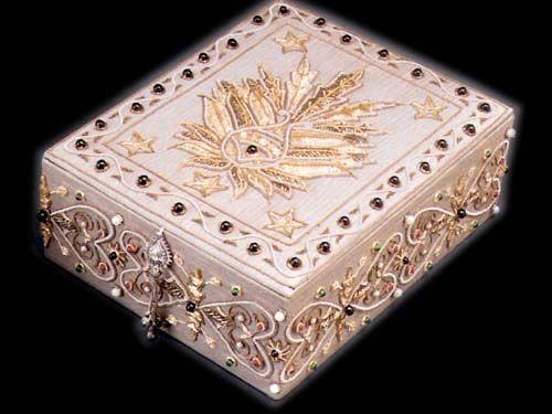 hand jewelry Handmade Embroidered Jewelry Box Need to Bead