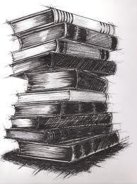vintage book stack sketch - Google Search