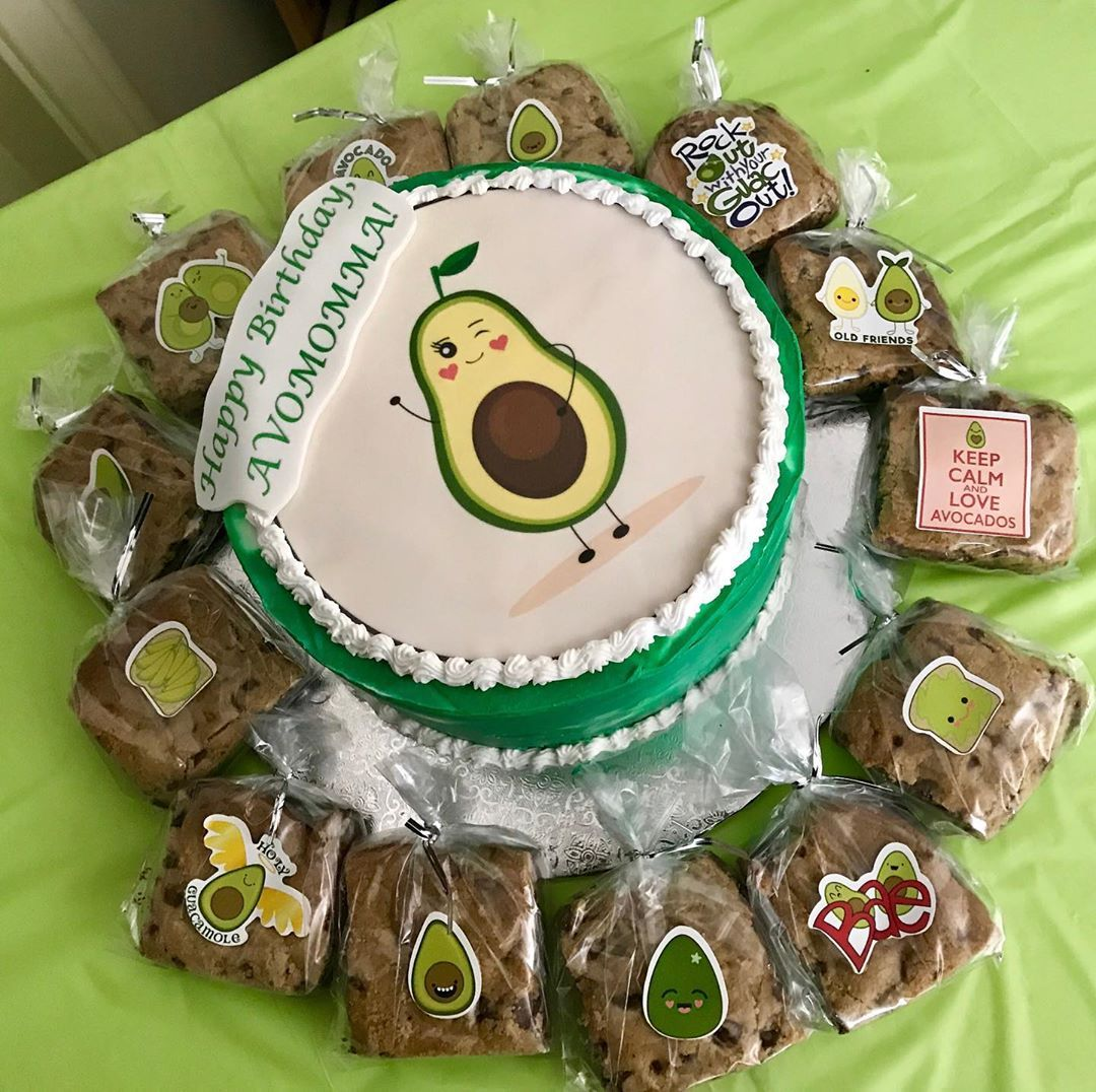 Groovy Avocado Birthday Avocado Birthday Cake Dessert Avocado Funny Birthday Cards Online Hendilapandamsfinfo
