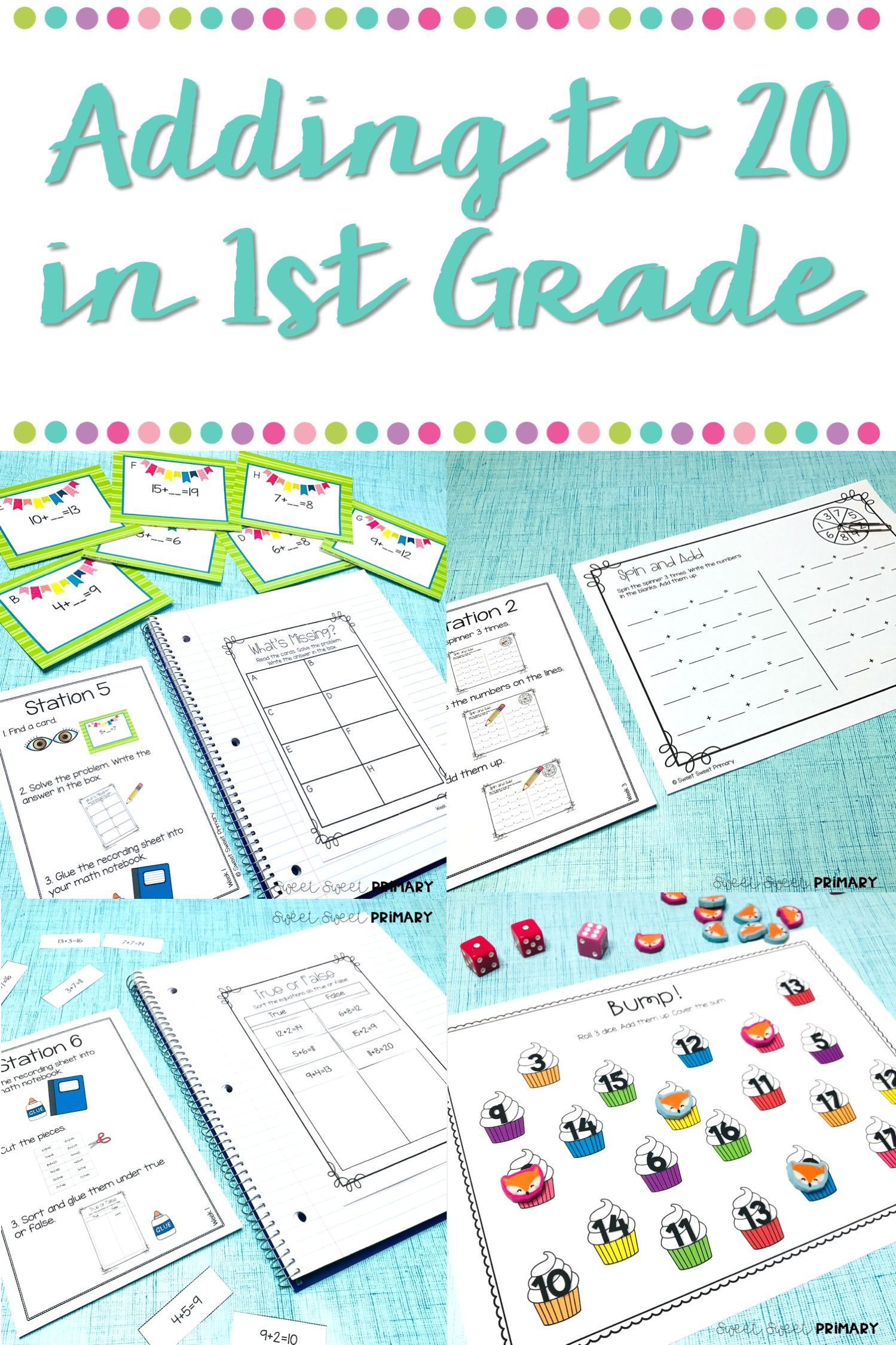 Teaching Addition To 20 In First Grade