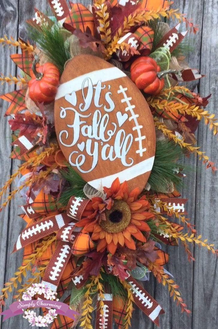 Photo of Fall Football Decor