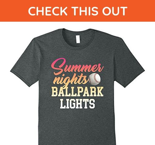 2d81bf07c5ab Mens Summer Nights   Ballpark Lights T-Shirt Baseball   Softball 3XL Dark  Heather - Sports shirts ( Amazon Partner-Link)