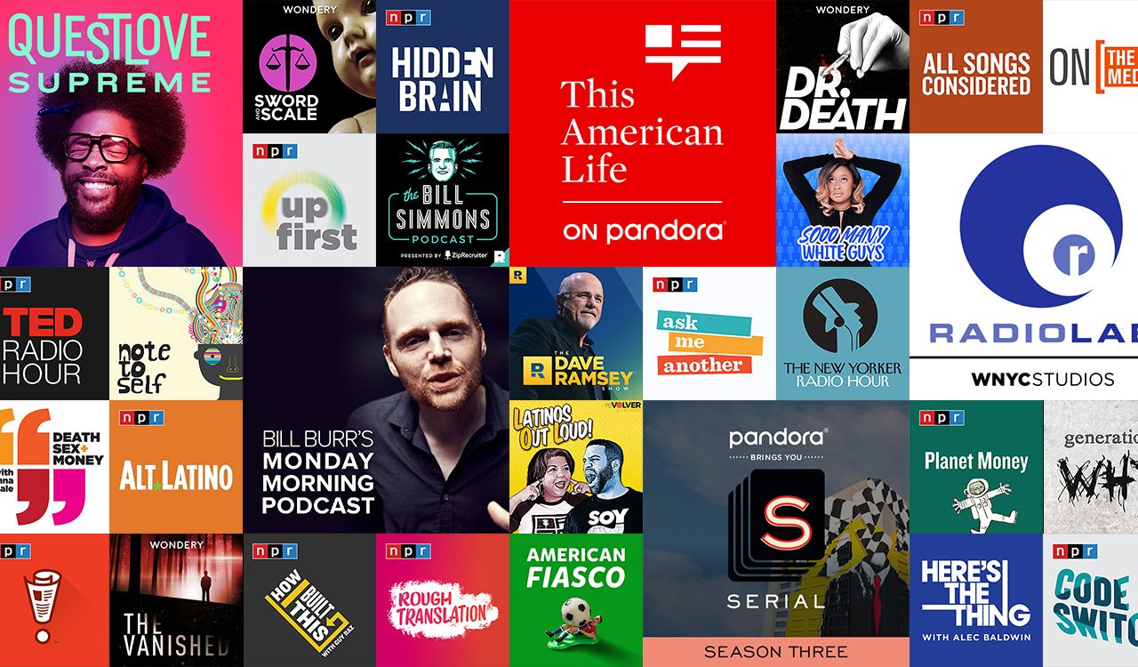 Introducing Podcasts on Pandora hundreds of podcasts