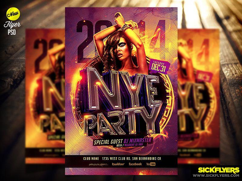 NYE Flyer Template by Industrykidz deviantart com on
