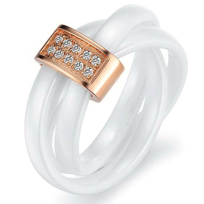 International Free Shipping, white ceramic ring