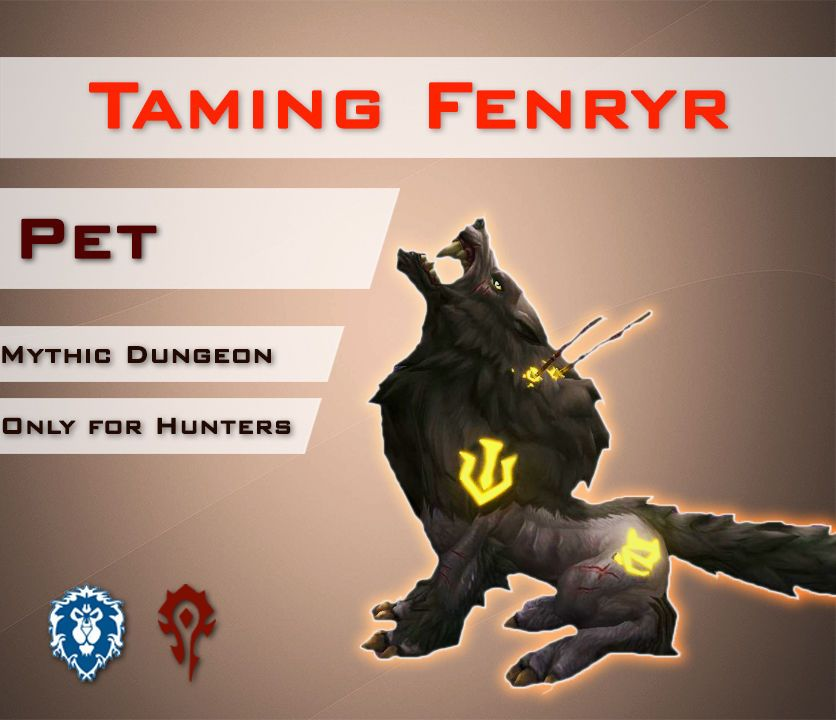 Eu Fenryr Tame Solo Mythic Halls Of Valor Hunters Wolf Pet