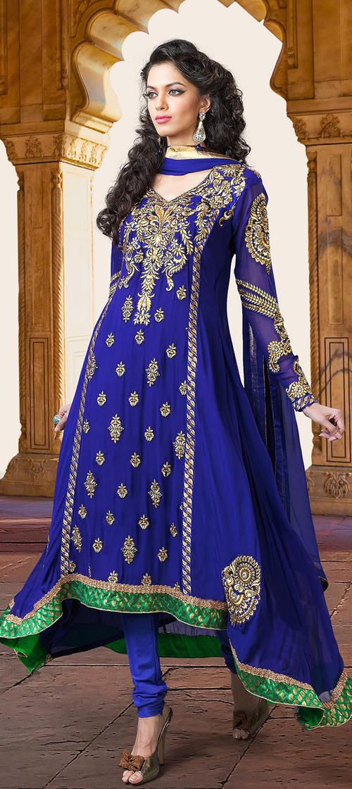 Royal Blue Indian Gown All Items Are Quality Checked By Angel