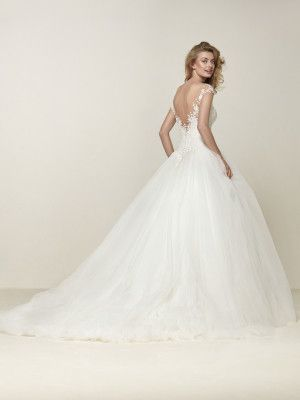 drosel: romántico y majestuoso vestido de novia princesa - pronovias