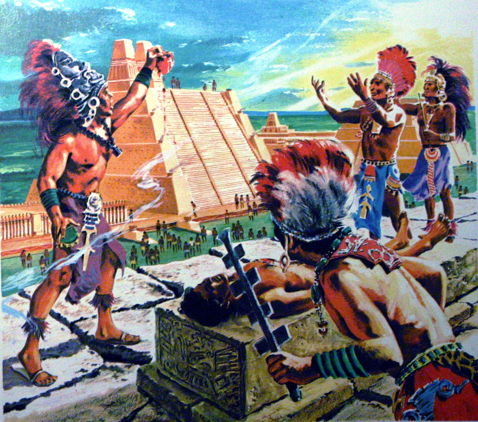 mayan sacrifice ceremony - HD 1845×1628