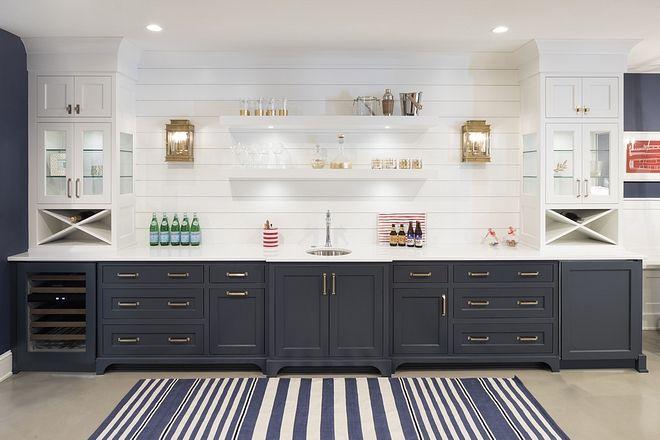 white basement bar cabinets