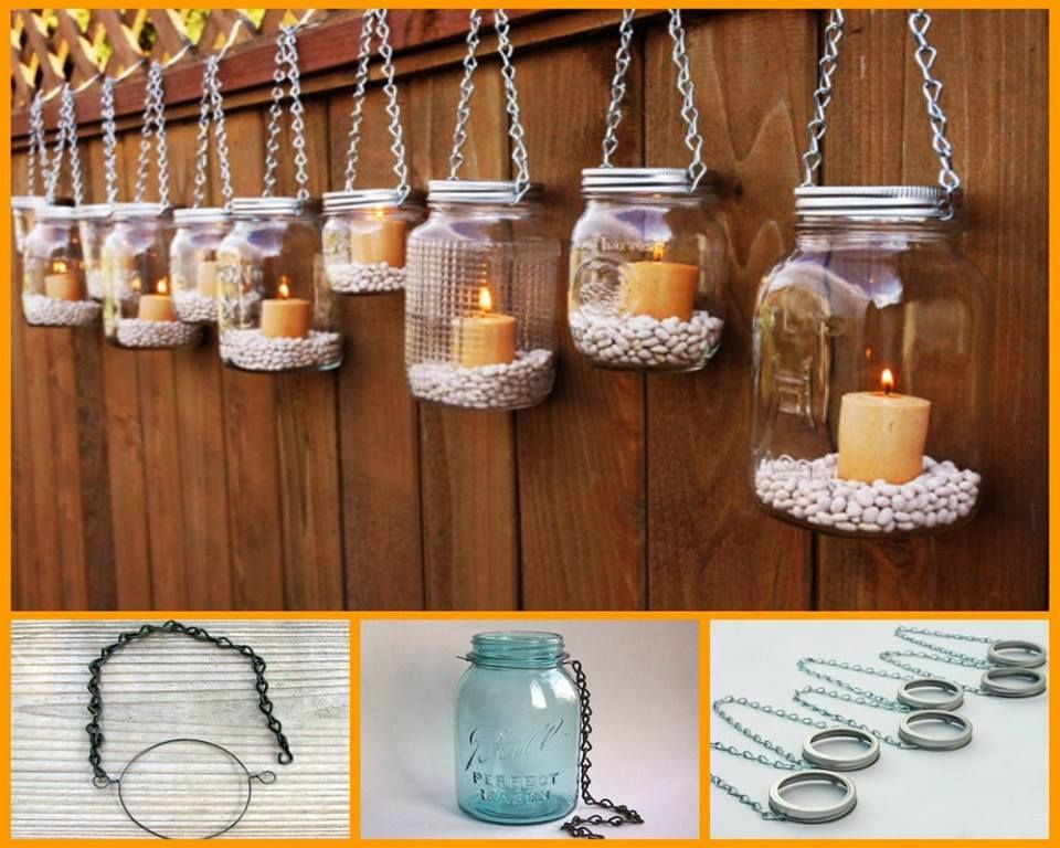 Diy mason jar lanterns mason jar lanterns and jar lanterns for Hanging candles diy