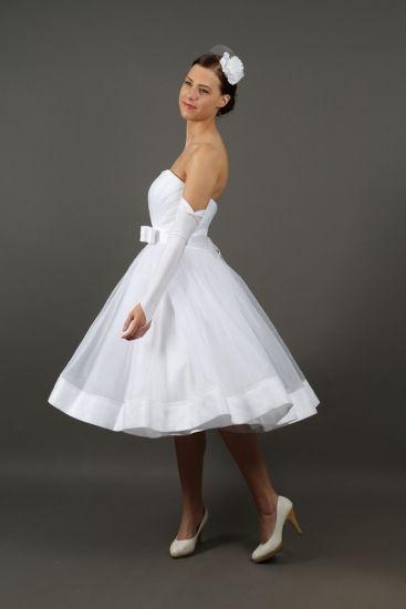 Neu Standesamtkleid Petticoatkleid Brautkleid 50er Jahre