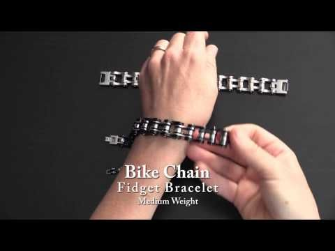 A Video Showing The 4 Stimtastic Bike Chain Fidget Bracelets Side
