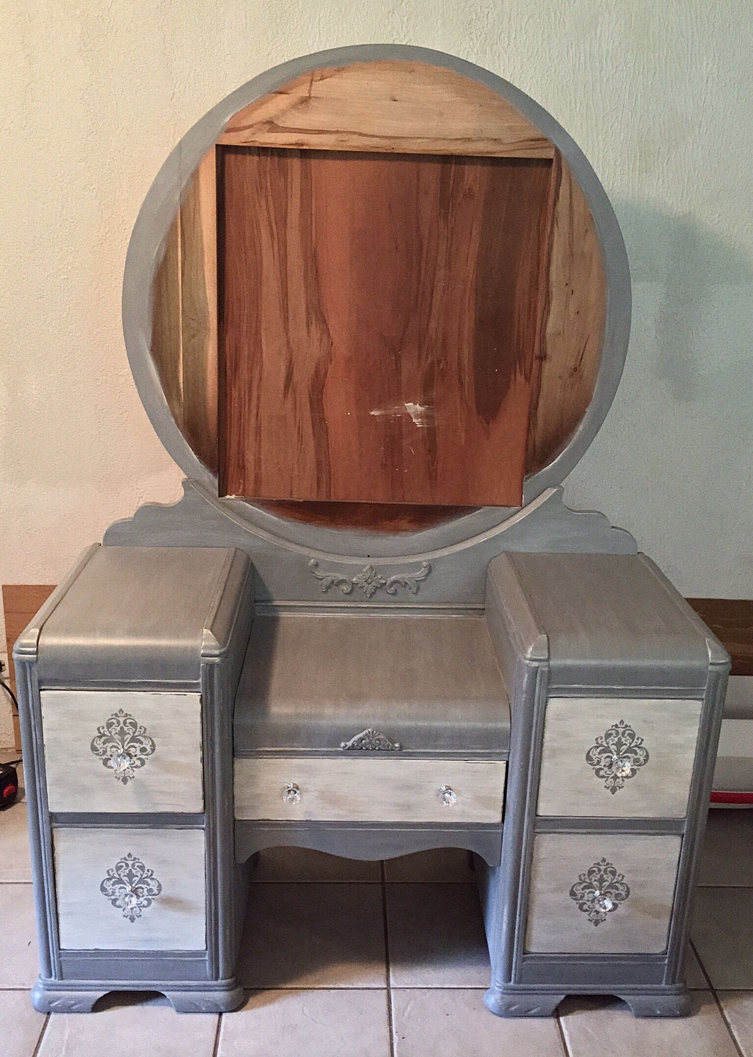Vintage Waterfall Vanity - Vintage Waterfall Vanity Chalk Painted Furniture Pinterest