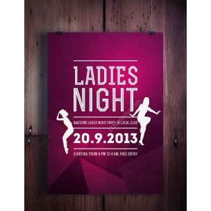 Ladies Night Flyer Template  Modern Clean Flat And Minimal