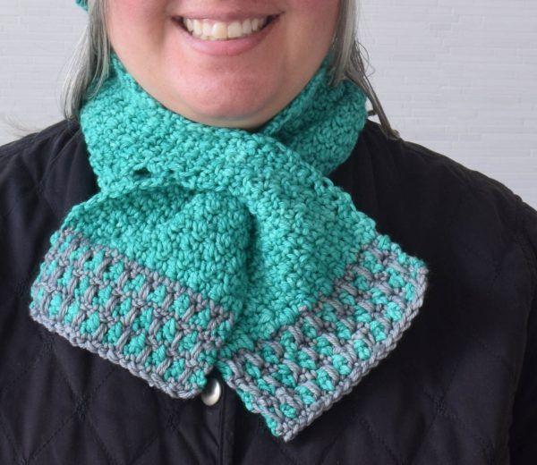 In the Neighborhood Keyhole Scarf, free crochet pattern by ...