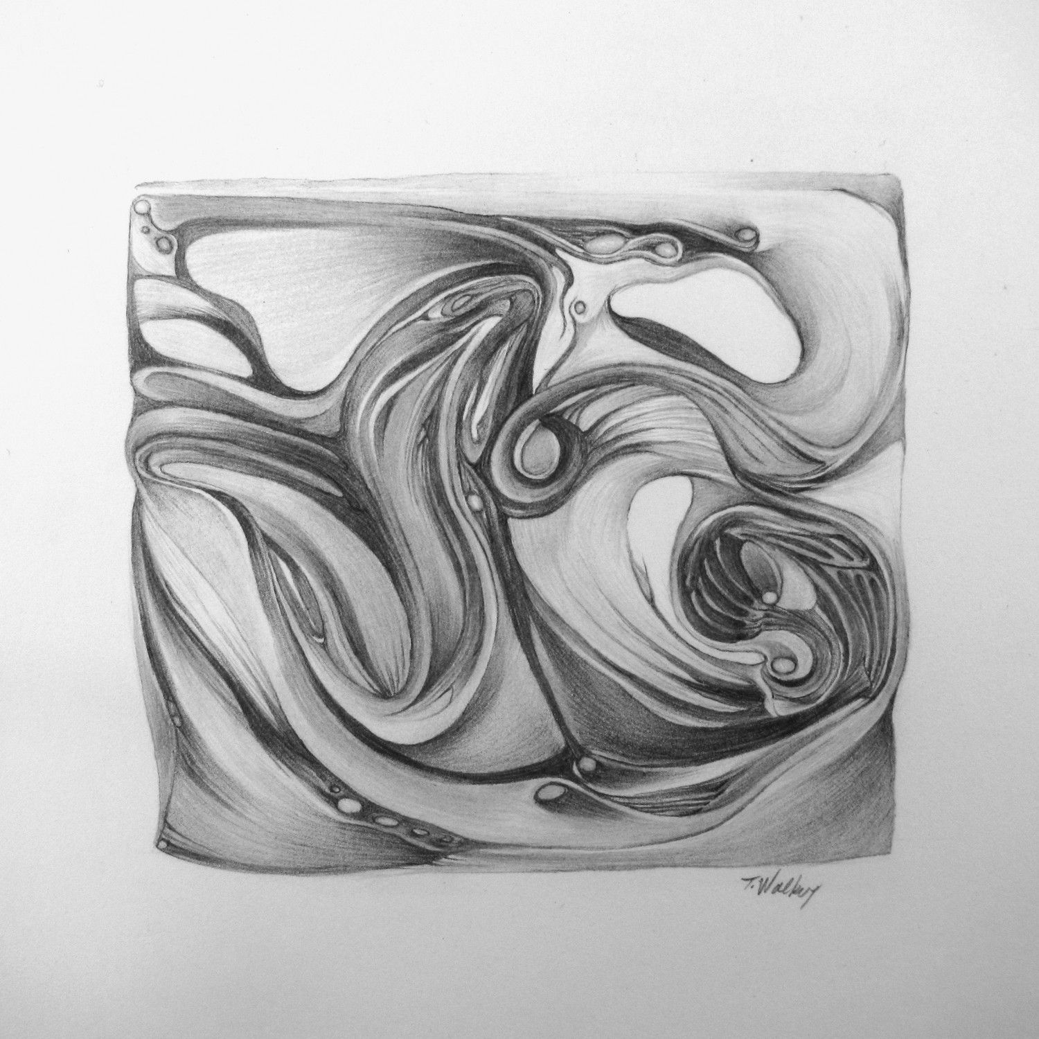 Abstract Drawings With Pencil Sketch