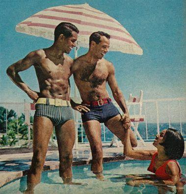 Cute 1960s Plaid ShortsBathing Trunks
