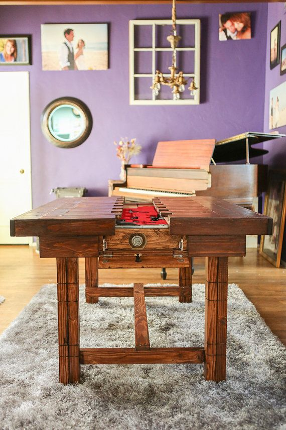 Dining Height - Secret Compartment Table for Storing Guns or other ...