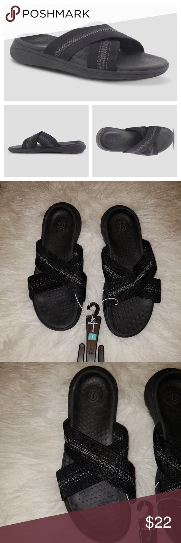 480aaf30f716 NWT Champion Women s Deana Slide Sandal EVA insoles offer lightweight  comfort Open-toe sandals are