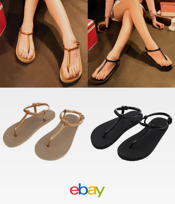 ee849e937130 Women s Girls Summer Slippers Flip Flops Beach Sandals Ladies Flat Thong  Shoes