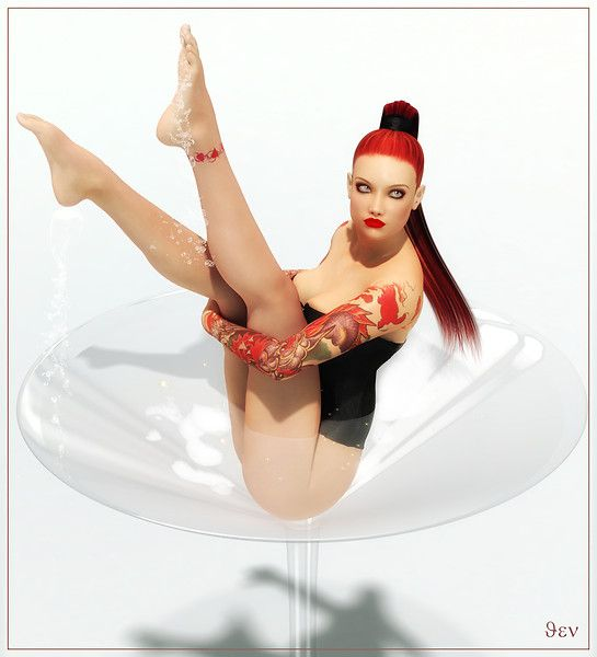 Champagne Bath - by Rubina