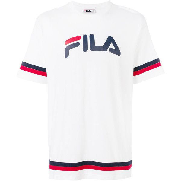 89567a83 Fila logo patch T-shirt ($52) ❤ liked on Polyvore featuring men's fashion,  men's clothing, men's shirts, men's t-shirts, white, mens white shirts, ...