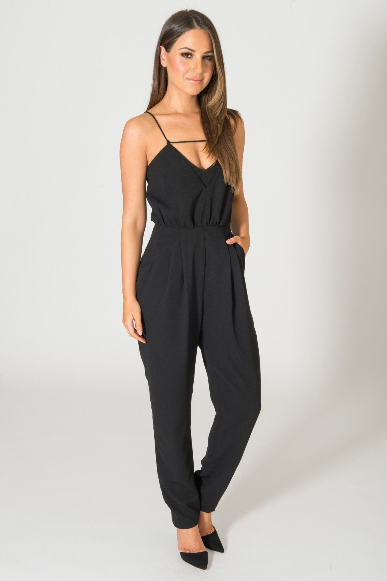 847b4f320c05 FINDERS KEEPERS THE SOMEDAY BLACK JUMPSUIT