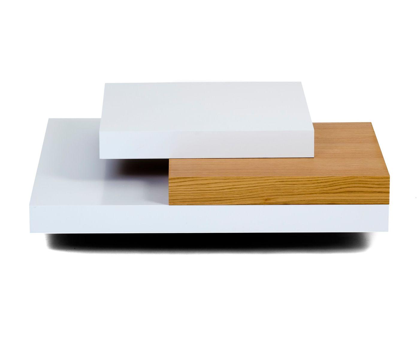 Couchtisch Slate, Eiche/weiß, B 90 cm | Westwing Home & Living