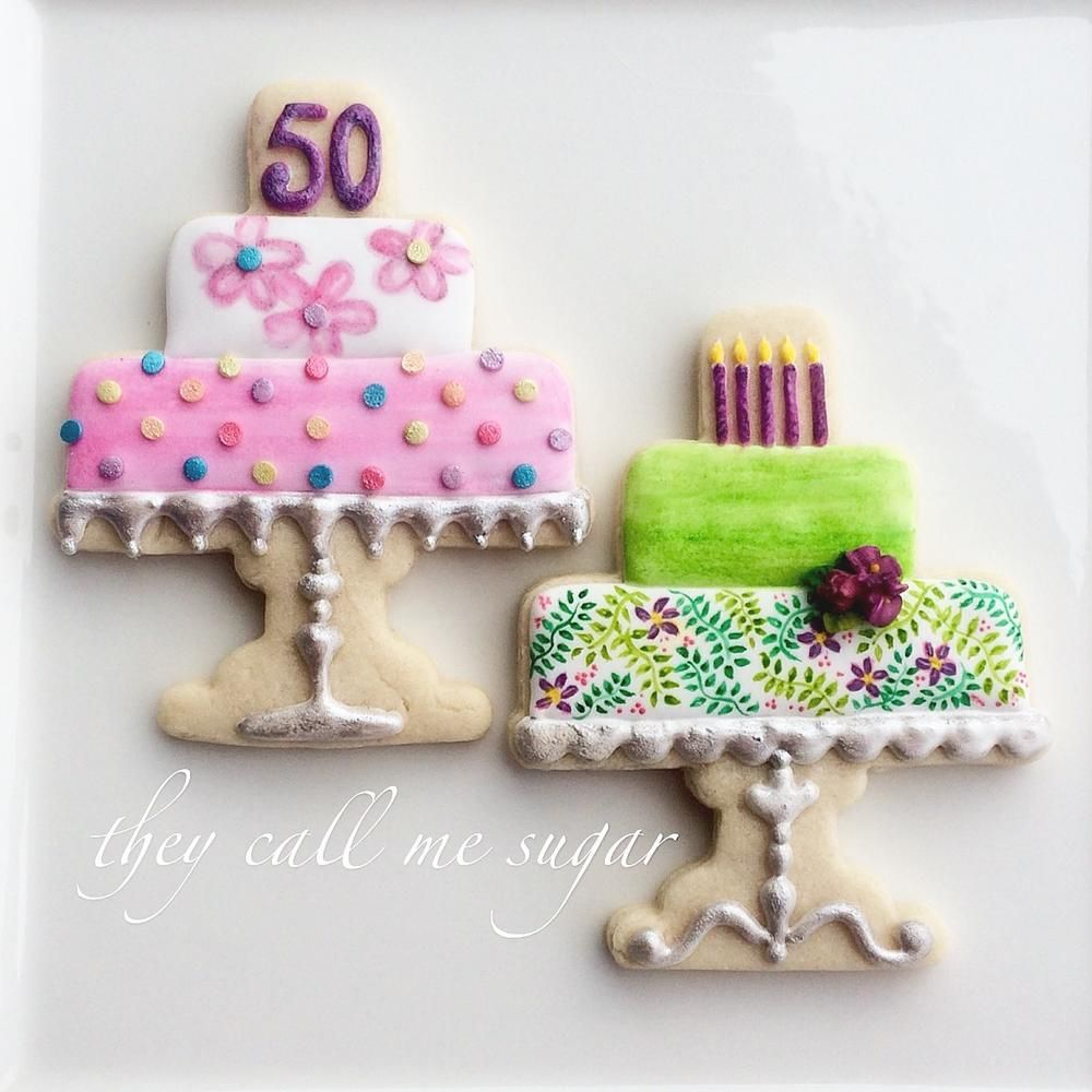Happy Birthday Cakes On Pretty Cake Plates By Susan Hennes