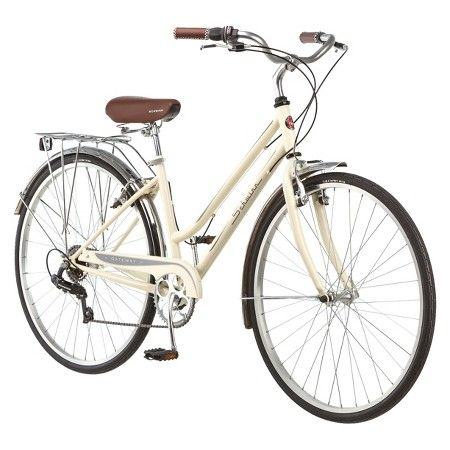 Schwinn Women S Gateway 700c 28 Hybrid Bike Cream In 2020 Hybrid Bike Schwinn Bike Hybrid Bicycle