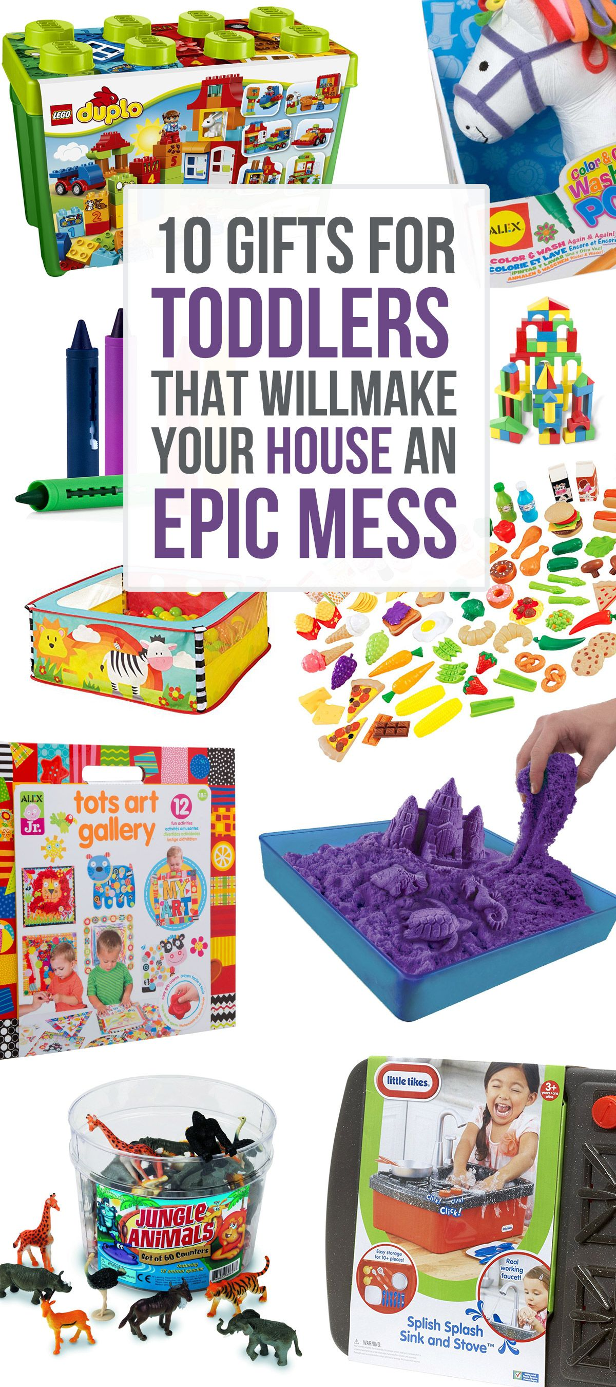 10 Gifts for Toddlers that Will Make Your House an Epic Mess