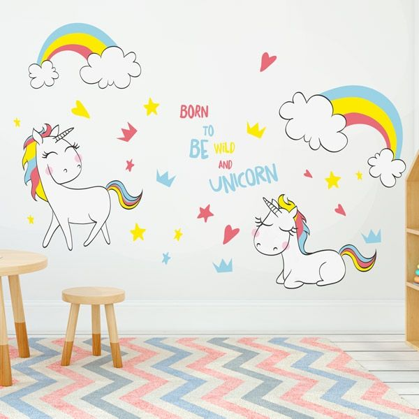 Vinilos unicornios para decorar las habitaciones for Recamaras de unicornio para ninas