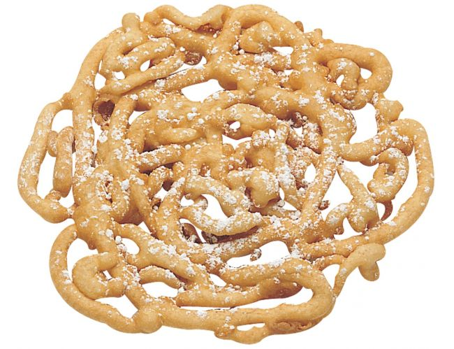 J and J Snack Cake Factory Funnel Cake - 5 pulgadas, 48 ​​por caja.