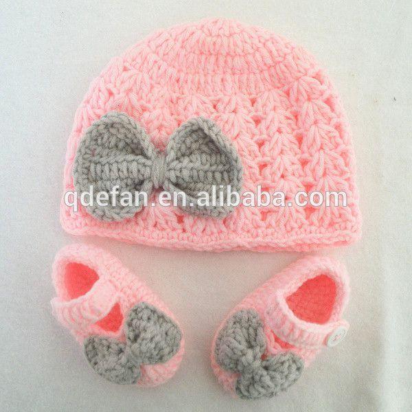 Resultado de imagen de gorro recien nacido crochet | zapatitos ...